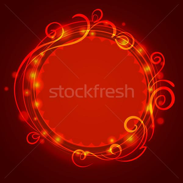 аннотация красный мистик кружево Swirl шаблон Сток-фото © heliburcka