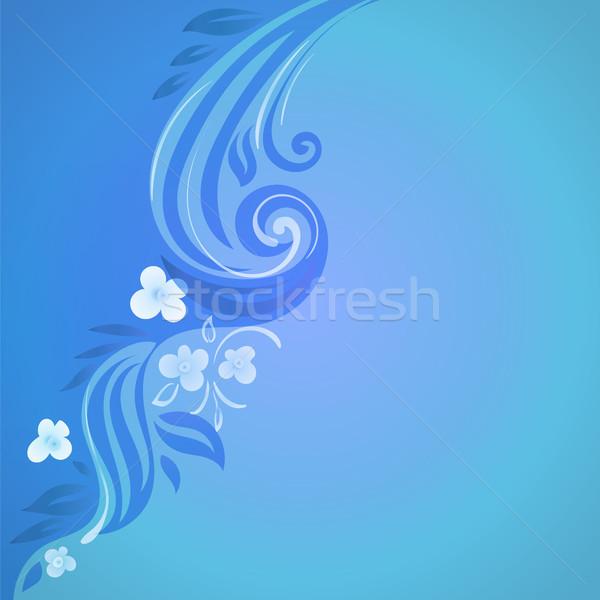 Abstract vector bloemen illustratie decoratief achtergrond Stockfoto © heliburcka