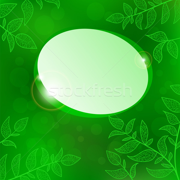 Abstract speech bubble nature background Stock photo © heliburcka