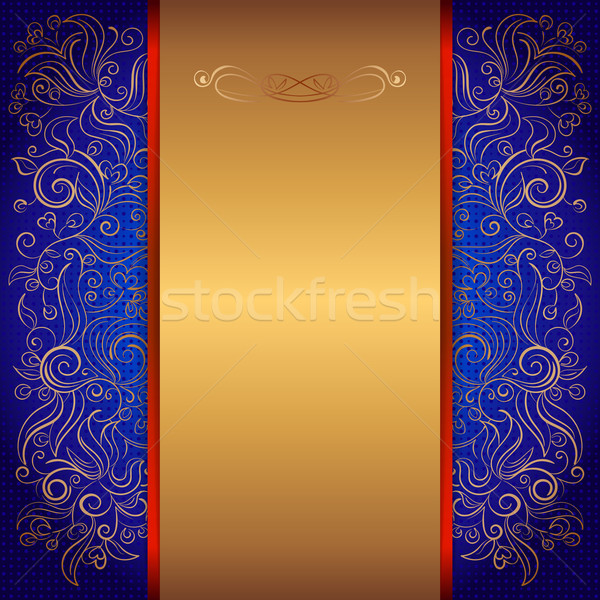 Blue royal invitation card vector illustration helen burceva add to lightbox download comp stopboris Choice Image