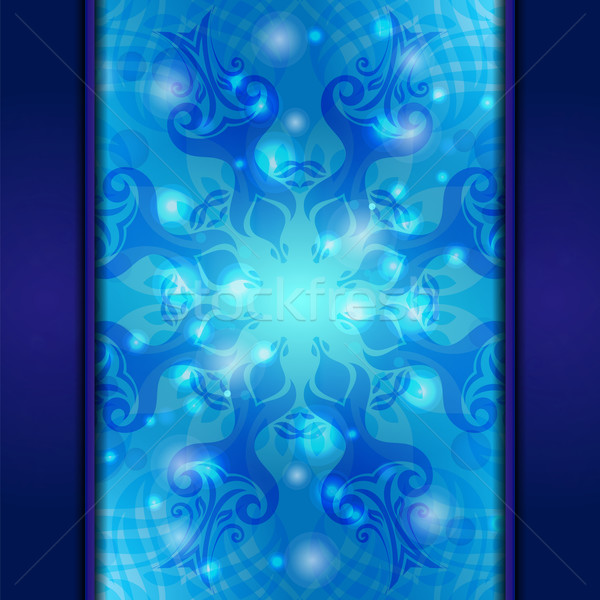 Blue vintage vector abstract background Stock photo © heliburcka