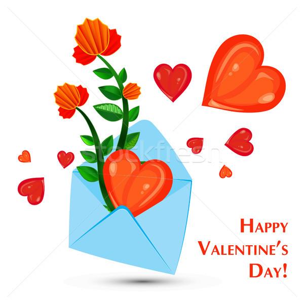 envelope and heart Stock photo © heliburcka