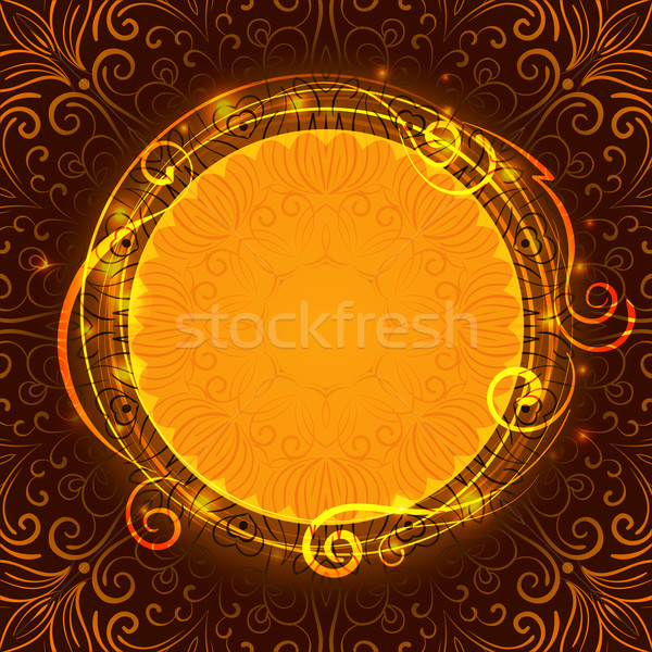 Abstract brown mystic lace background with swirl pattern and frame for text Stock photo © heliburcka
