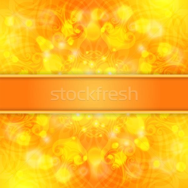 Elegancki pomarańczowy koronki ozdoba wstążka Zdjęcia stock © heliburcka