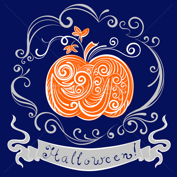 Stock photo: lace pumpkin for hallowmas