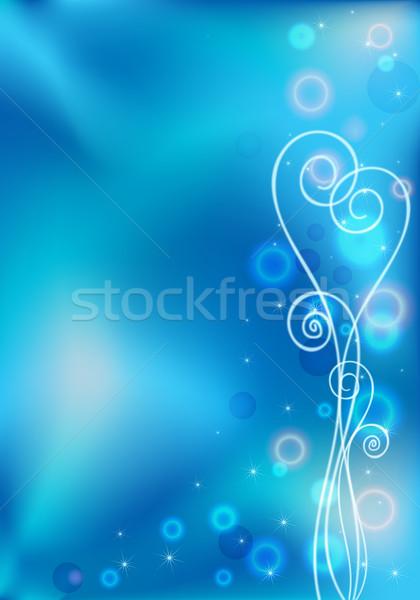 Blue valentines grate card Stock photo © heliburcka