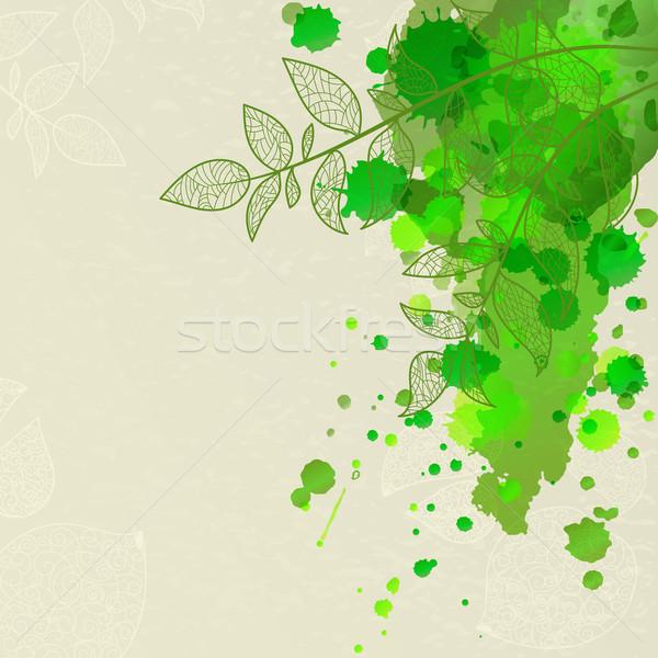 Abstract eco tak blad voorjaar Stockfoto © heliburcka