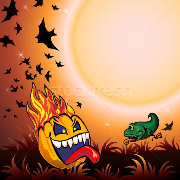 Halloween Party Background Stock photo © heliburcka