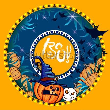 Halloween banner donkere ontwerp ticket uitnodiging Stockfoto © heliburcka