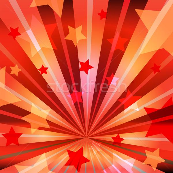 stars and radiating rays Stock photo © heliburcka