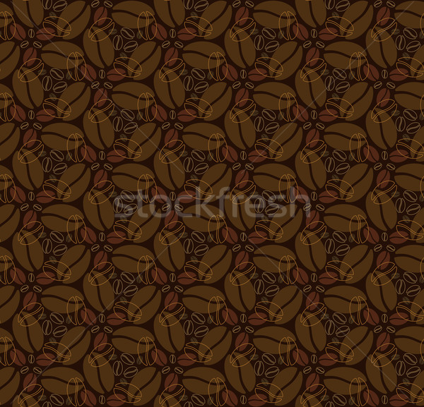 Seamless pattern with coffee beans Stock photo © heliburcka
