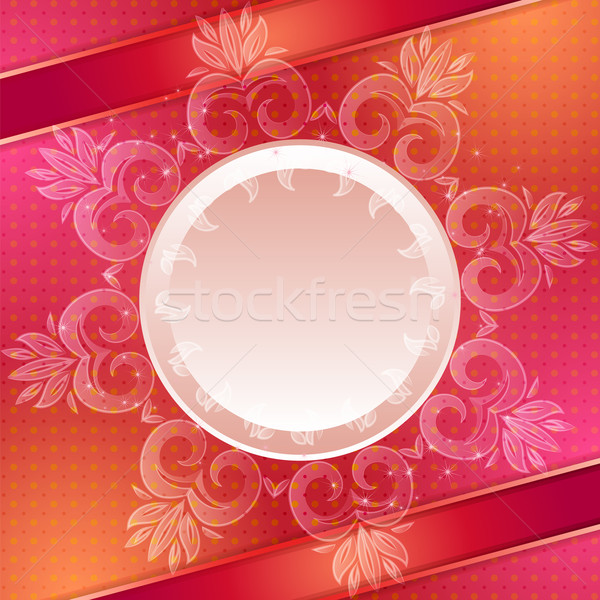 Red vector abstract background Stock photo © heliburcka