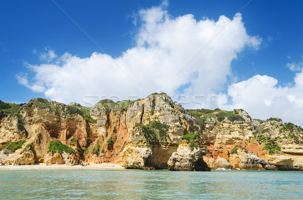 Scenic view of a coastline landscape in Lagos, Algarve, Portugal Stock photo © HERRAEZ