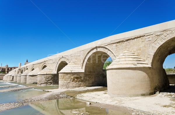 римской моста реке синий ярко небе Сток-фото © HERRAEZ