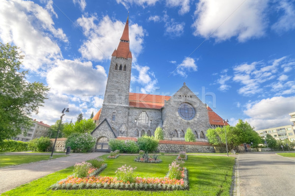 Catedral famoso ponto de referência Finlândia igreja pedra Foto stock © HERRAEZ