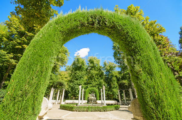 Archway in Aranjuez royal palace gardens, Spain. Stock photo © HERRAEZ