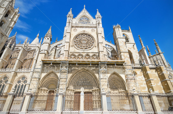 Detail of the facade of Leon Cathedral, Castilla y Leon, Spain. Stock photo © HERRAEZ