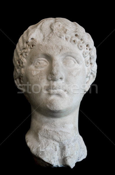 Ancient Roman Sculpture on black isolated background Stock photo © HERRAEZ