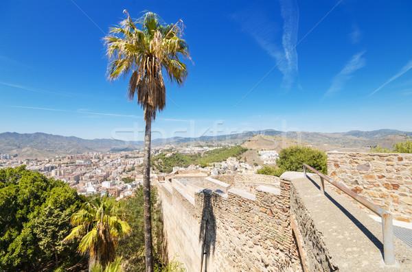 пальма малага замок Испания дома Сток-фото © HERRAEZ