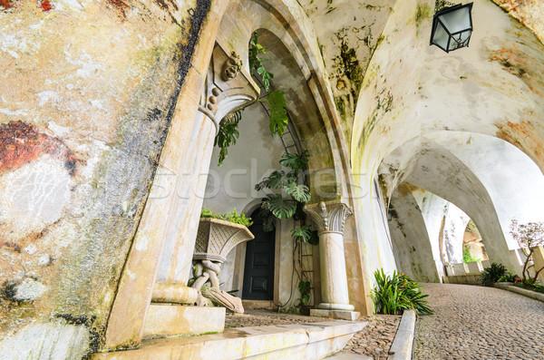 Ancient corridor in Palacio da Pena, Portugal Stock photo © HERRAEZ