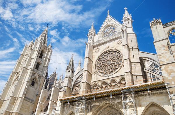 подробность фасад собора Испания небе здании Сток-фото © HERRAEZ