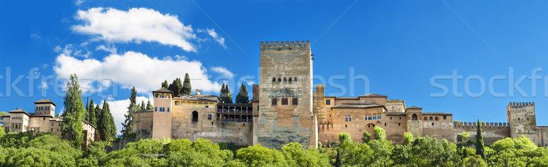 有名な アルハンブラ宮殿 宮殿 スペイン 建設 風景 ストックフォト © HERRAEZ
