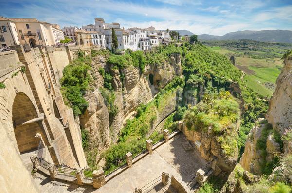 Ponte desfiladeiro málaga Espanha céu cidade Foto stock © HERRAEZ