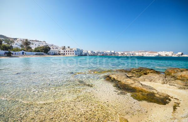 Foto d'archivio: Sereno · spiaggia · noto · isola · Grecia · acqua