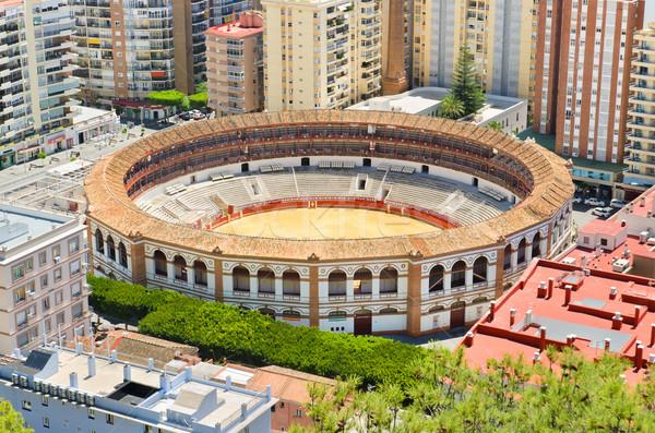 Verekedés aréna Spanyolország város tájkép utazás Stock fotó © HERRAEZ