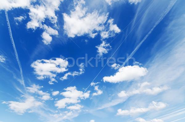 青 曇った 空 雲 背景 色 ストックフォト © HERRAEZ