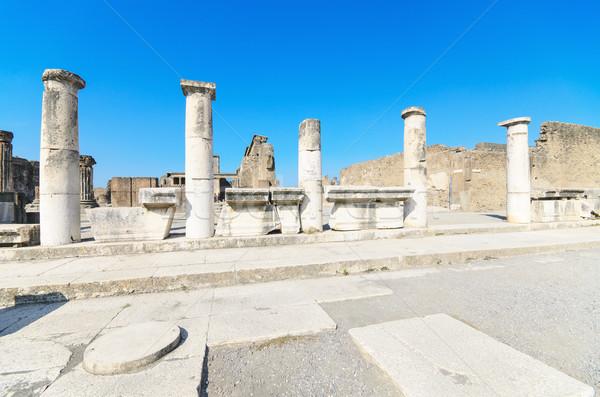 古代 遺跡 イタリア 通り 旅行 石 ストックフォト © HERRAEZ