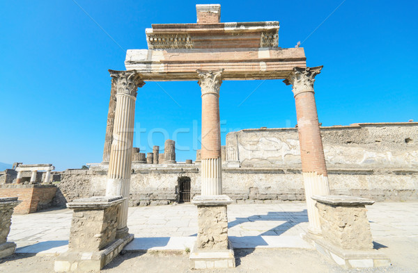 Antica rovine Italia strada viaggio pietra Foto d'archivio © HERRAEZ