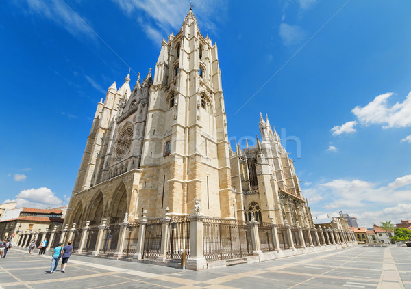 Leon Cathedral, Castilla y Leon, Spain. Stock photo © HERRAEZ