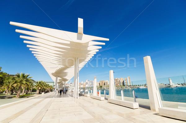 Boulevar in Malaga port, Malaga,Andalusia, Spain. Stock photo © HERRAEZ