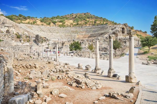 древних руин Турция театра библиотека архитектура Сток-фото © HERRAEZ