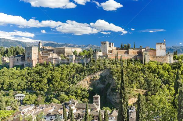 известный Альгамбра дворец Испания строительство пейзаж Сток-фото © HERRAEZ