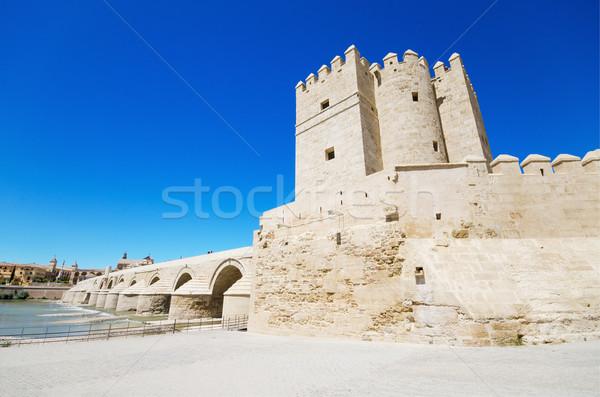Calahorra tower, famous landmark in Cordoba, Andalusia, Spain. Stock photo © HERRAEZ