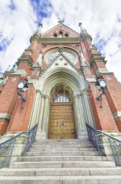 église Helsinki célèbre repère fenêtre nuage Photo stock © HERRAEZ