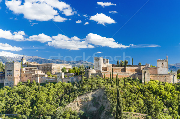 Famous Alhambra palace, Granada, Spain. Stock photo © HERRAEZ