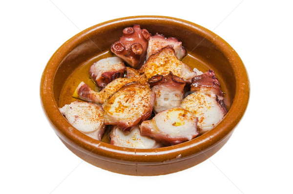 осьминога испанский продовольствие свет Салат белый Сток-фото © HERRAEZ