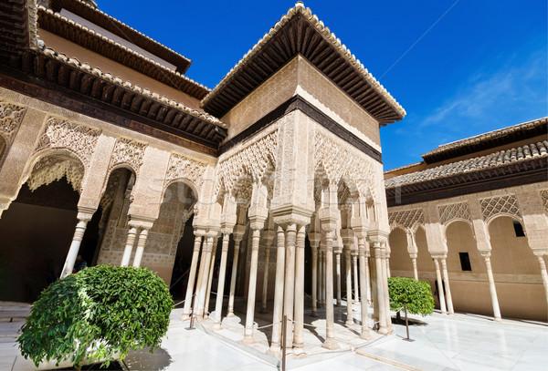 Detalle famoso alhambra palacio España textura Foto stock © HERRAEZ