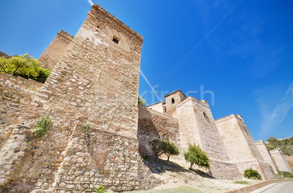 внешний мнение стен древних крепость малага Сток-фото © HERRAEZ