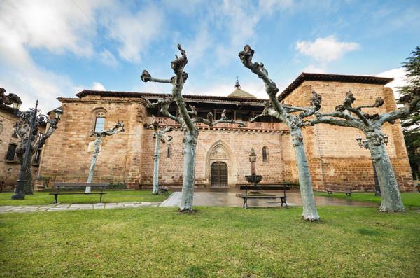 Scénique vue église la Espagne orageux Photo stock © HERRAEZ