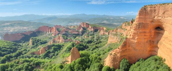 Foto stock: Maravilhoso · panorama · paisagem · antigo · romano · Espanha