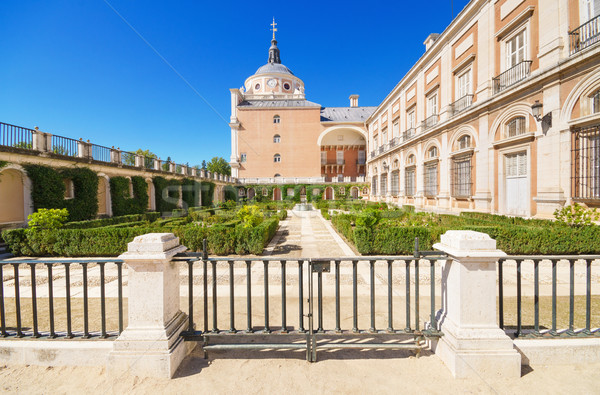 Koninklijk paleis Madrid Spanje hemel stad Stockfoto © HERRAEZ