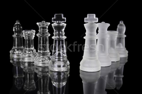 チェスの駒 孤立した 黒 美しい 反射 ビジネス ストックフォト © HERRAEZ