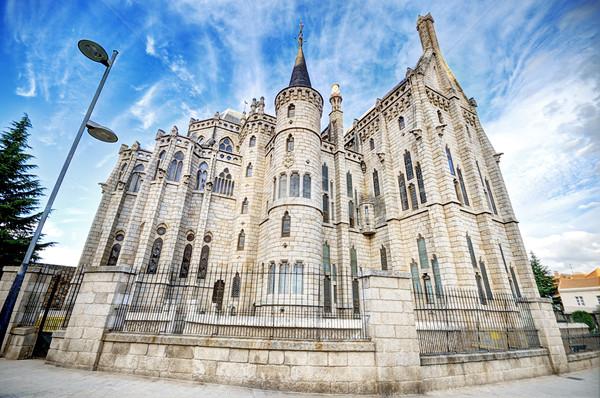 Famous landmark Astorga Epsiscopal Palace, in Astorga, Leon, Spain. Stock photo © HERRAEZ