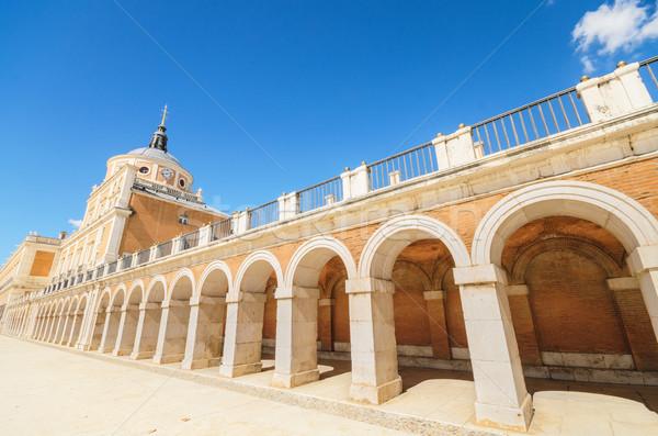 Królewski pałac Madryt Hiszpania niebo miasta Zdjęcia stock © HERRAEZ