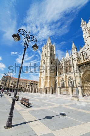 Stock photo: Tourist visiting famous landmark Leon Cathedral,