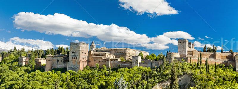 Panorama noto alhambra palazzo Spagna costruzione Foto d'archivio © HERRAEZ